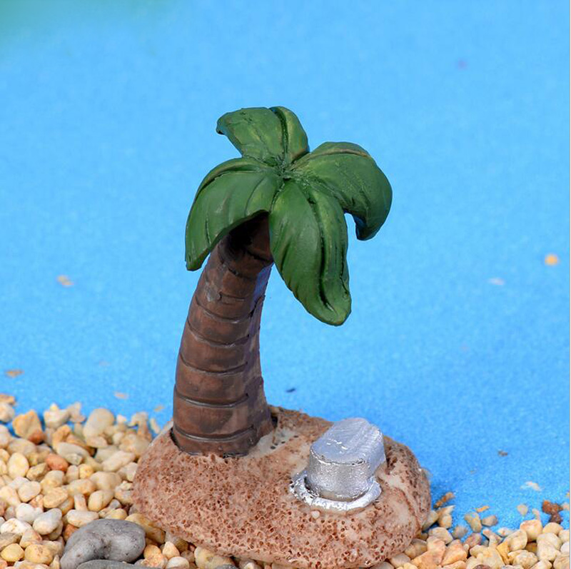 Coconut tree Figurine Miniature Figures Movie Character Birthday cake Home Car decoration statue resin craft Toy Gift TNB103