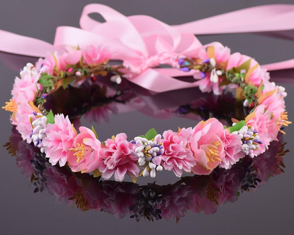 CXADDITIES Berry Anjers Camellia Bloem Bruids Bloemen Kroon Haarkrans - Kledingaccessoires