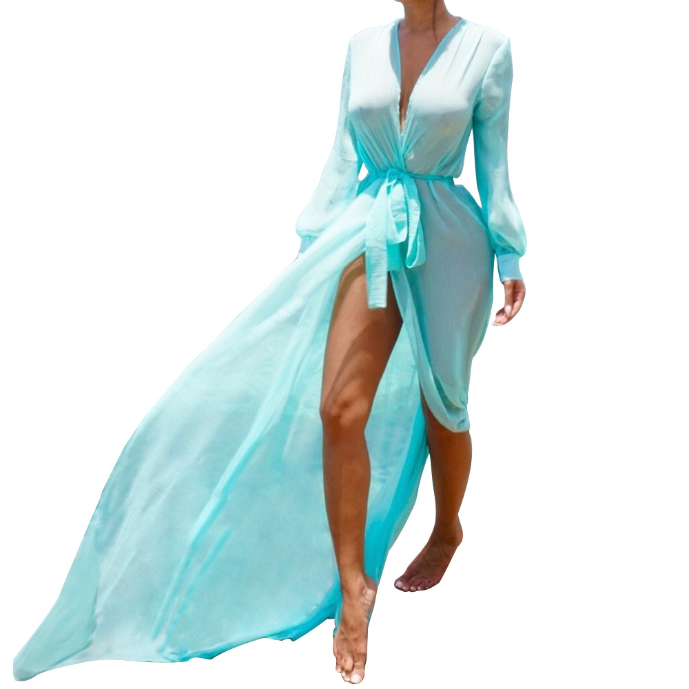 2017 Sxey Women Beach Cover Up Bikini Swimsuit Swimwear Bathing Suit Robe De Plage Beach Wear Solid Cardigan Dress Cover Up