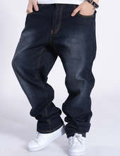 Хип-хоп джинсы мужские 2016 новинка вышивка логотипа Большой размер мужские уличная одежда бесплатная доставка