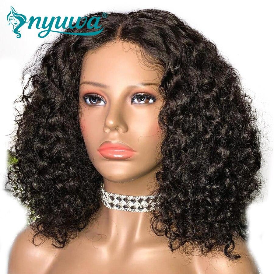 360 Кружева Фронтальная человека парики для черный Для женщин Glueless отбеленные узлы предварительно сорвал с для волос 250% плотность бразильск...