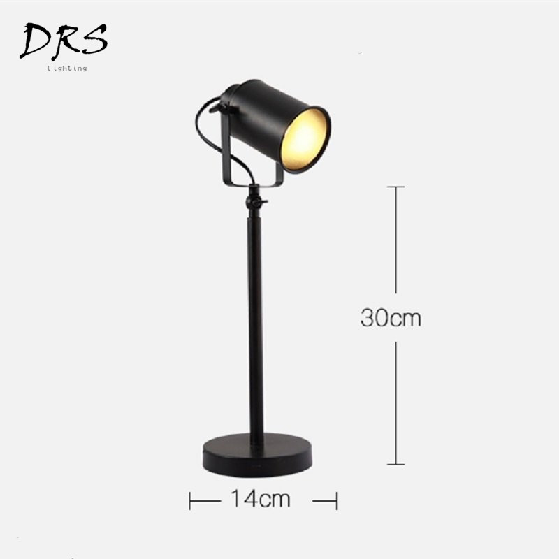 Современные Простые креативные настольные лампы железные черные настольные лампы Гостиная Спальня Обучающие светодио дный фонари домашние осветительное оборудование - 6