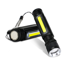 USB Charging XML-T6 COB Tactical Flashlight Waterproof Hand Rechargeable LED Torch Light Magnetic Inspection LED Work Lamp boruit cob xml t6 led flashlight 360 degree rotation magnetic work light magnetic inspection lamp usb 18650 torch camping light