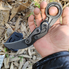 Mechanical Claw Knives Karambit CS GO Cutter Fixed M390 Blade One Solid Steel Handle Survival Rescue Outdoor Knife Kydex Sheath