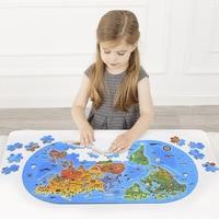 100 Pieces World Map Puzzle Children's Puzzle Intelligence Development Educational Puzzle Toys Assemble Game Kids Best Gift
