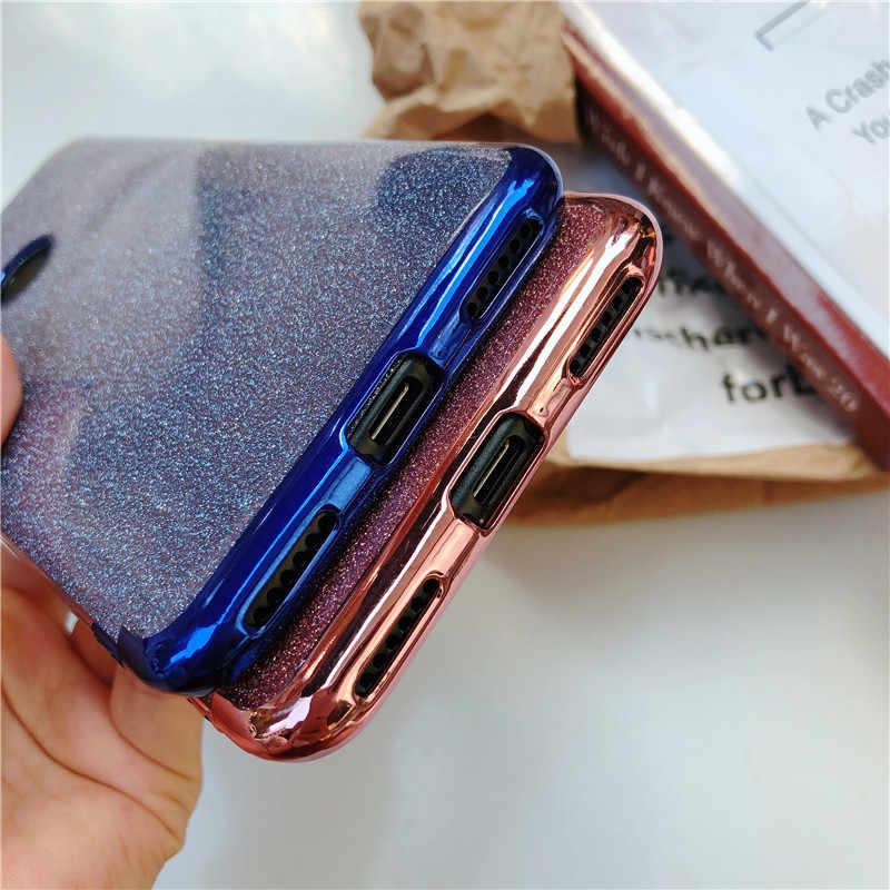 Glitter กรอบ TPU สำหรับ Huawei P30 Pro P20 Lite Mate Mate 10 20 Nova 3e 4e Honor 9 8 8X P สมาร์ท Y9 2018 ซิลิโคนกรณี