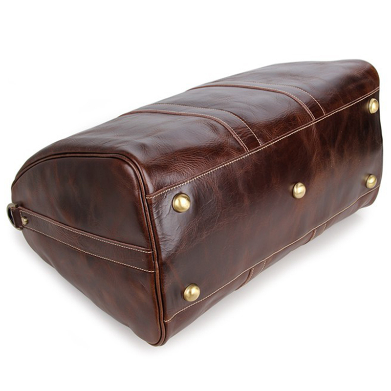 0372772a8021 Baigio Mens Leather Travel Bags Overnight Duffle Luxury Brown Designer  Brand Hand Luggage Shoulder Bags Travel Bag-in Travel Bags from Luggage    Bags on ...