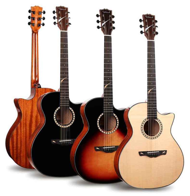 dadarwood dw205c cheap price solid top acoustic electric guitar guitarra acustica in guitar. Black Bedroom Furniture Sets. Home Design Ideas