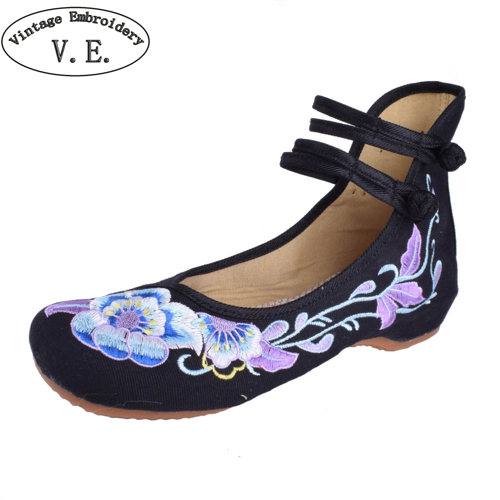 Women Flats Shoes Chinese Dance Old Beijing Cloth Shoes Canvas Ballet Shoes Woman Casual Soft Flats chinese women flats shoes flowers casual embroidery soft sole cloth dance ballet flat shoes woman breathable zapatos mujer