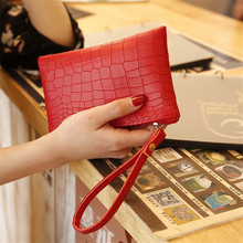Fashion Crocodile Grain Patchwork  Women's Clutch Bag Leather Lady Envelope Bag Clutch Envening Bag Female Coin Purse Handbag