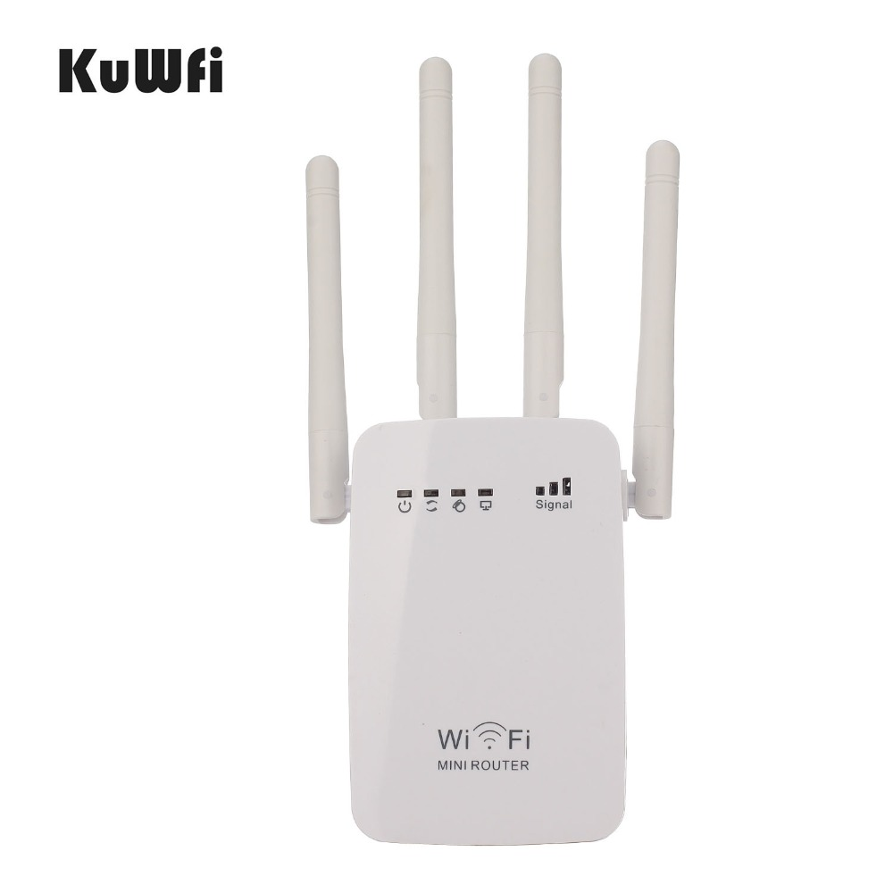 AC05 Wireless WIFI Repeater WIFI Router Access Point Dual Band 1200Mbps Range Extender Wi-Fi Signal With 4 External Antennas dodocool n300 mini wifi repeater router access point wifi range extender with 2 external antennas wps protection eu us plug