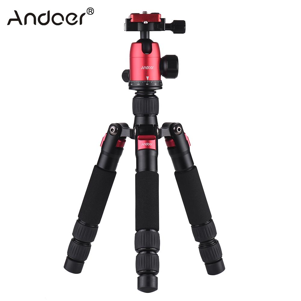 Andoer DT 02 Mini Portable Desktop Tripod Stand with Ball Head Quick Release Plate for Canon Nikon Sony DSLR Camera Tripod-in Tripods from Consumer Electronics    1