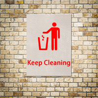 15x20cm 1pc reflective sticker for walls the ground and car inside keep cleaning signs poster wall.jpg 200x200