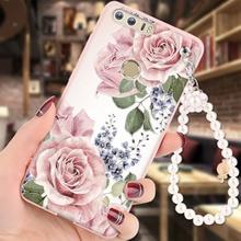 Huawei Honor 8 чехол мягкий силиконовый 3D Рельеф Живопись жемчужный браслет модная одежда для девочек задняя крышка Капа для Honor 8 случаях Coque