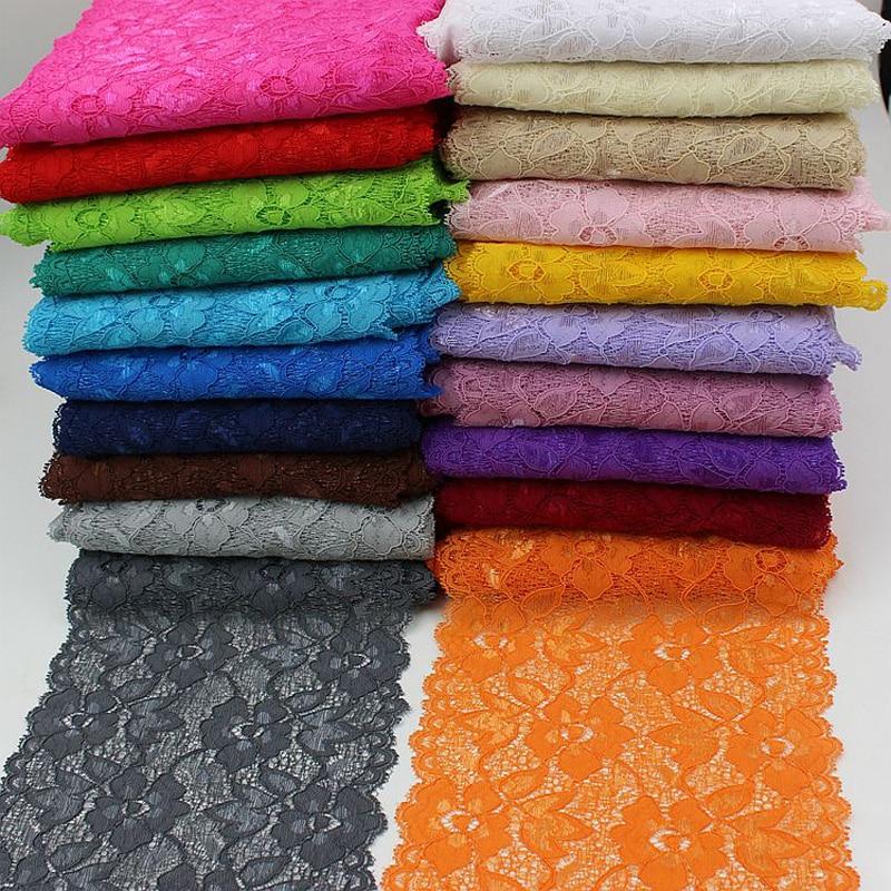 10Yards/lot 16cm Elastic Stretch Lace Trim Ribbon For Sewing Decoration Dress Shirt Apparel Fabric