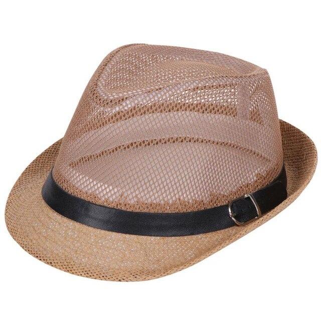 Wanita Boater Matahari Topi Pita Sepanjang Datar Terbaik Jerami Topi Pantai  Panama Uniseks Trilby Gangster Topi c67f5c94eb