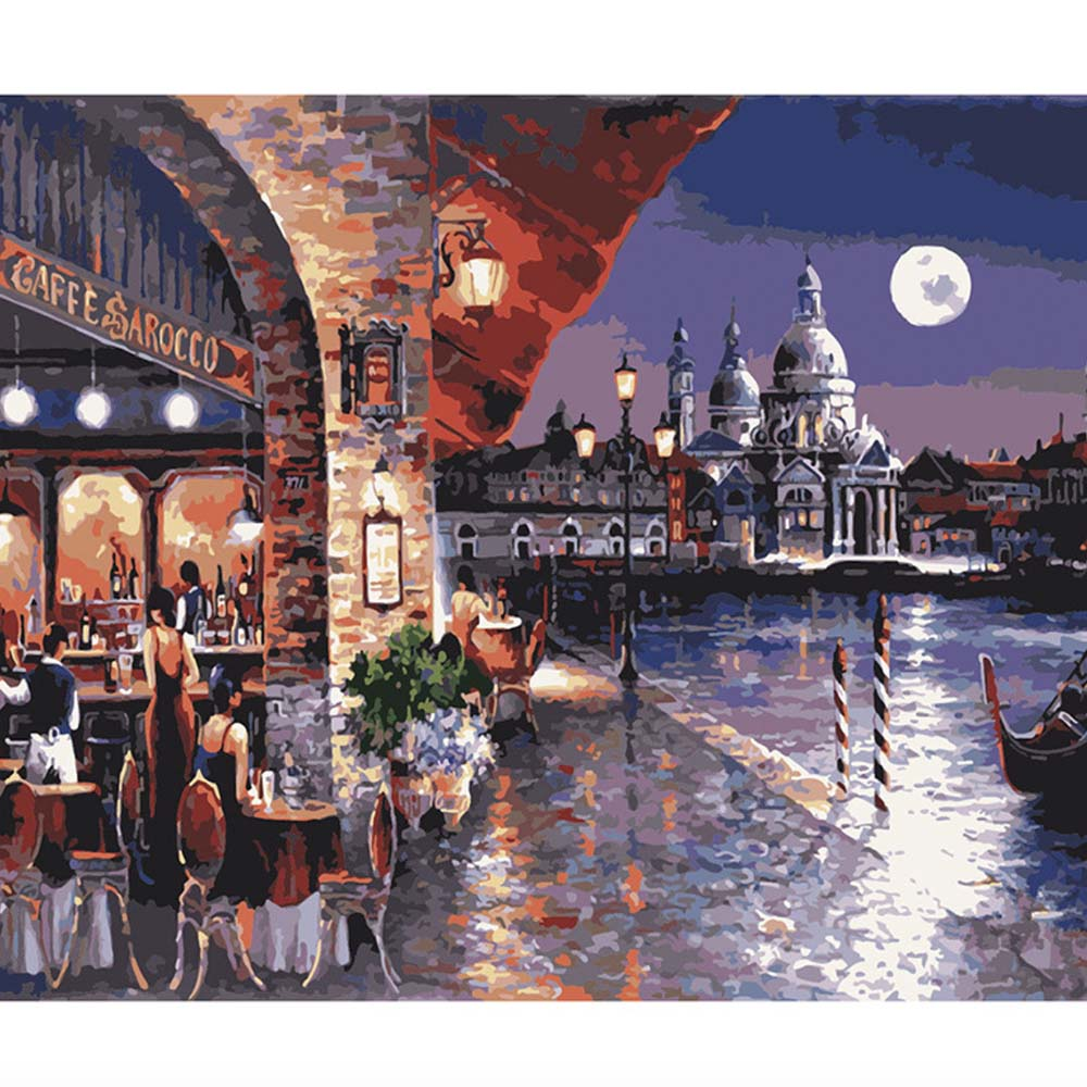 Landscape Painting Coloring By Numbers Paintings Numbers Numbered Paintings Pintar Por Numeros Oleo Canvas Peinture Numero