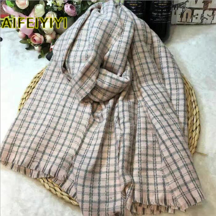 2018 Spring New Simple Plaid Street Characteristic Scarf Variety Ms. Shawl Spring Hot