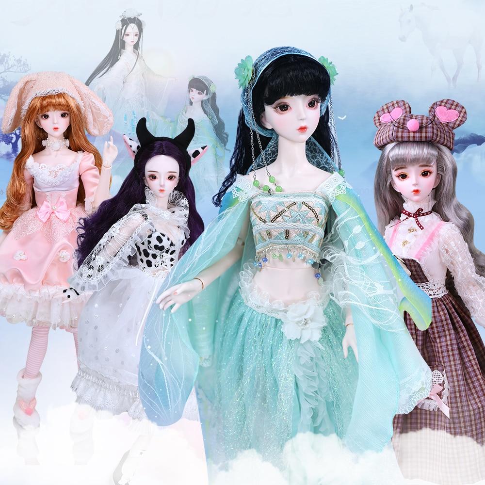 1/3 bjd doll 62 cm joint 몸 인형 흰 피부 와 머리 옷 shoes, 중국어 조디악 series, AI YoSD MSD SD Kit Toy Baby Gift DC-에서인형부터 완구 & 취미 의  그룹 1