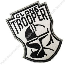 "3.5 ""Star Wars Clone Trooper masque Logo uniforme film série TV Costume Cosplay brodé emblème applique fer sur patch(China)"