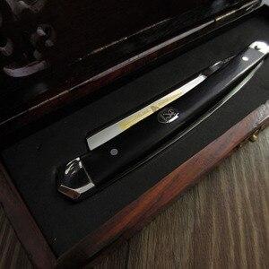 Image 4 - free shipping sharping razor TITAN wood handle  mans razor stainless steel balde