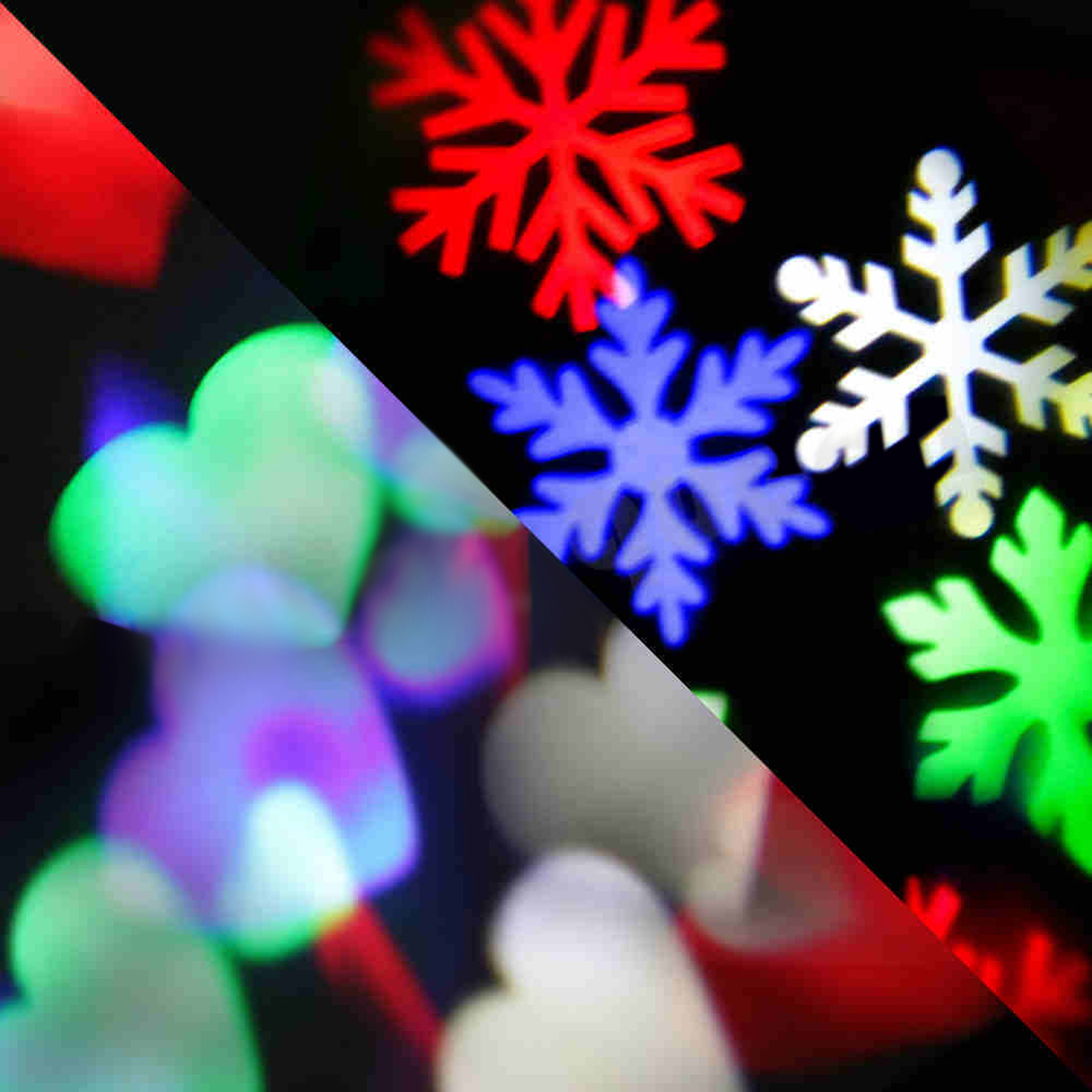 4W Moving Sparkling LED Snowflake Landscape Laser Projector Light Wall Lamp Xmas Festival Atmosphere Decoration Light snowflake christmas lights moving sparkling led landscape laser projector star light lawn waterproof garden lamps xmas decor