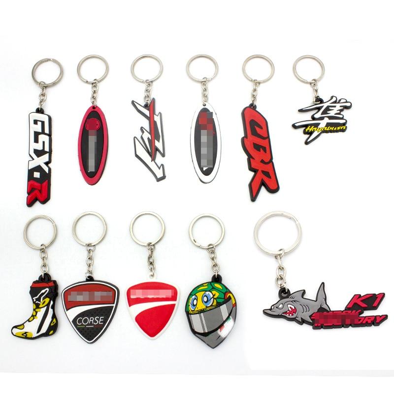 Porte-clés moto universel porte-clés porte-clés en caoutchouc pour Honda Suzuk Kawasaki Yamaha Ducati KTM CBR GSXR GSX-R FZ1