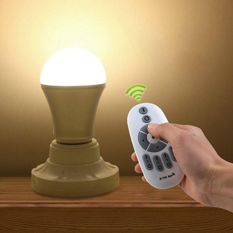 6AC85-265V 630 SMD 24 LED Lamp Bulb E27 Remote Control Smart Dimmable LED Bulb White Natural Warm White 3000K-6000K 550LM 1x p13 5s pr2 pr3 6000k white 4000k warm white 5v 6v 12v 18v 24v maglite led bulb magnum torch flahslight