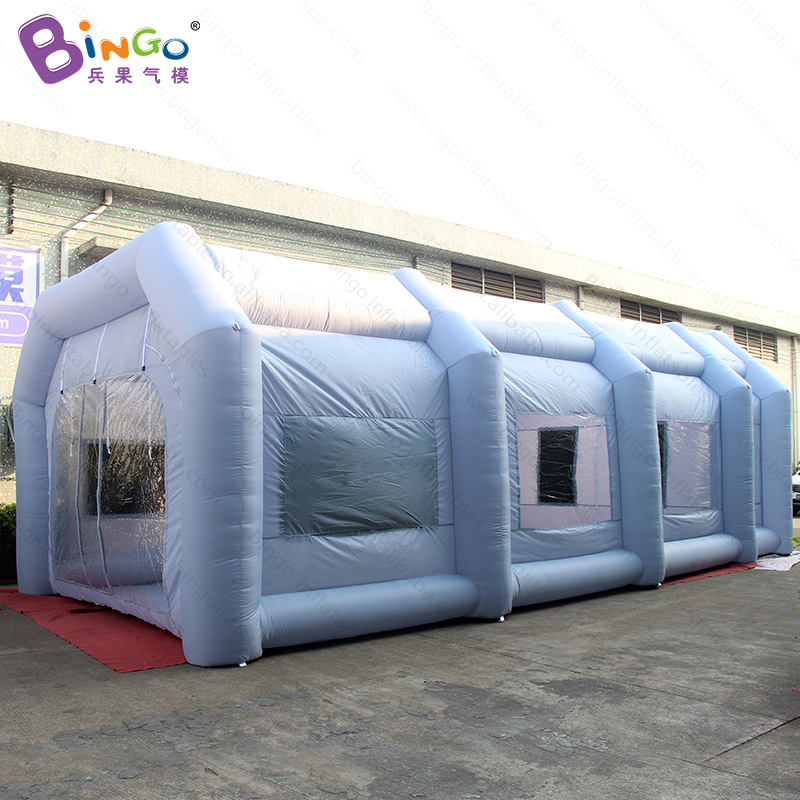 Free shipping inflatable spray paint booth with air filters high quality 10m rectangle tent for car painting toy tents whole sell high quality car wrap vinyl 1 52 10m 15m 20m 30m silver mirror chrome with air bubble free
