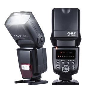 Image 4 - Andoer AD 560 השני אוניברסלי פלאש Speedlite מבזק w/Wireless פלאש טריגר עבור Canon ניקון אולימפוס Pentax DSLR מצלמות פלאש
