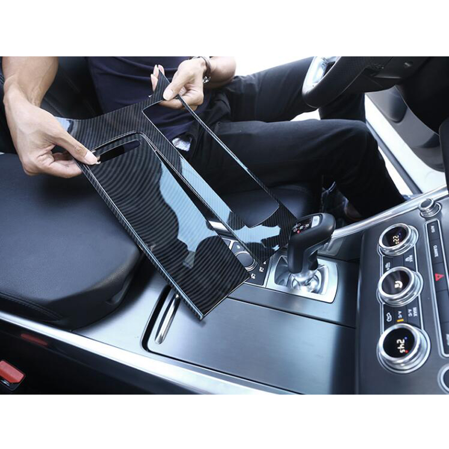Car Central Console Gear Shift Box Panel Frame Trim Cover Sticker For Land Rover Range Rover Sport 2014-17 Car-styling newest for land rover range rover evoque abs center console gear panel chrome decorative cover trim car styling 2012 2017 page 6