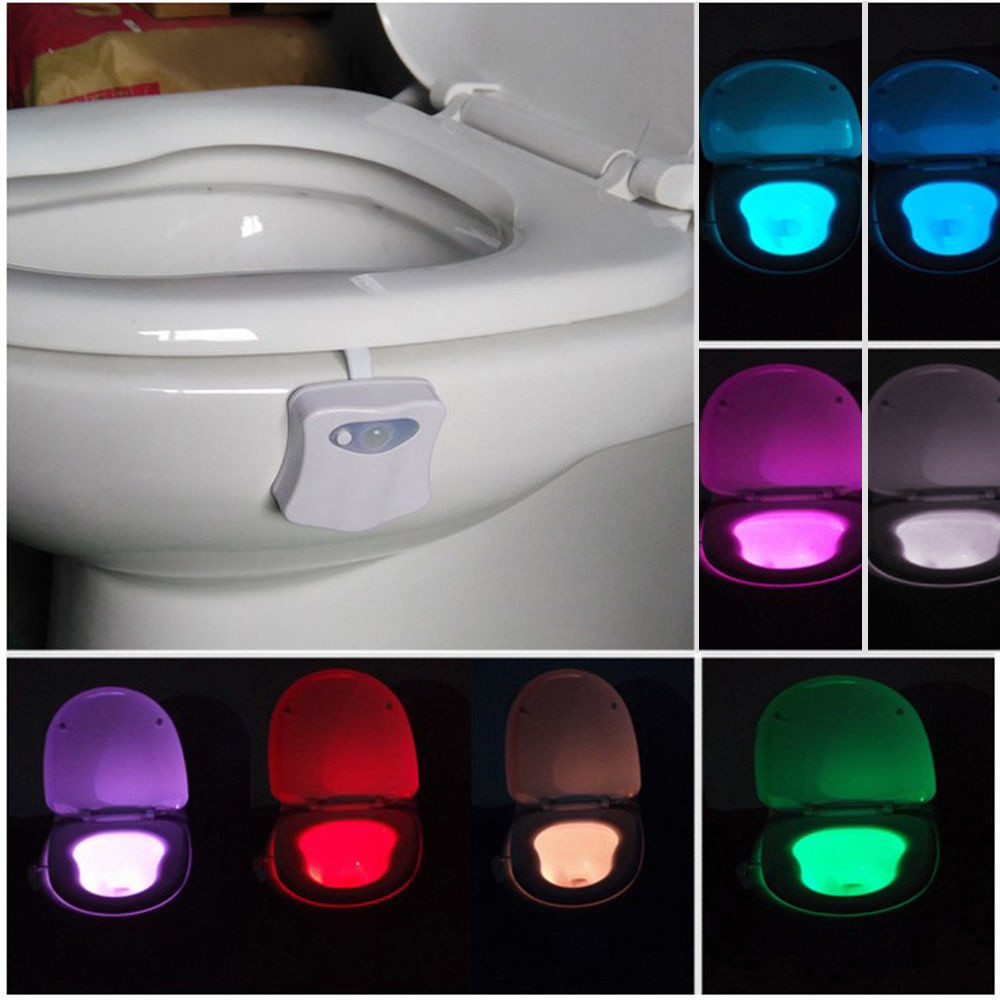 Automatic led energy saving night lamp - Hot Body Sensing Automatic Led Motion Sensor Night Lamp Toilet Bowl Bathroom Light Household And Hotels