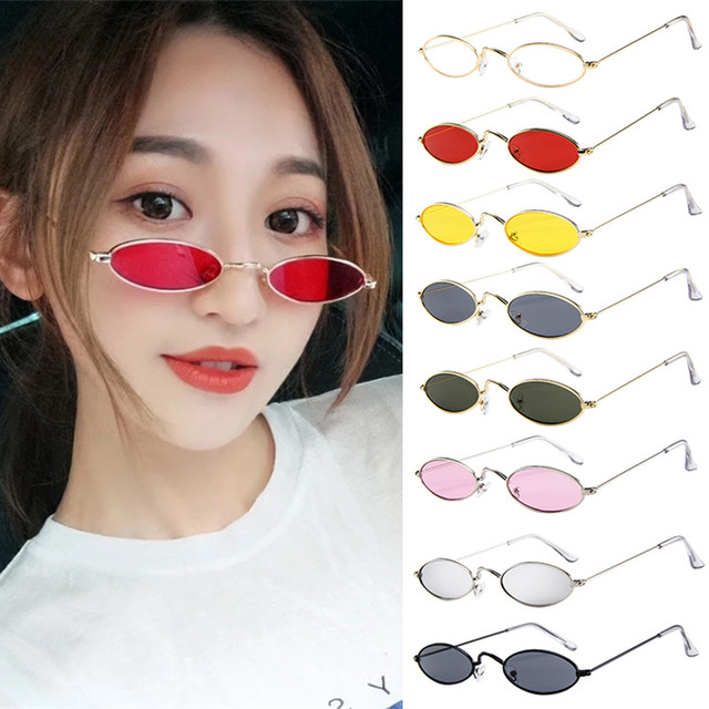 8cc21f9f7e Fashion Sexy Unisex sunglasses 2018 Retro Small Oval Sunglasses Metal Frame  Shades Eyewear lunette de soleil
