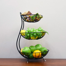 European Creative Iron Multi Layer Fruit Disc, Household Multi-functional Disc Frame