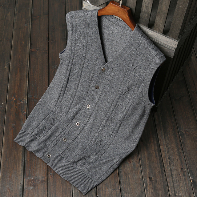 2017 New Arrival Autumn Winter cardigan Knitted Sweater vest Men ...