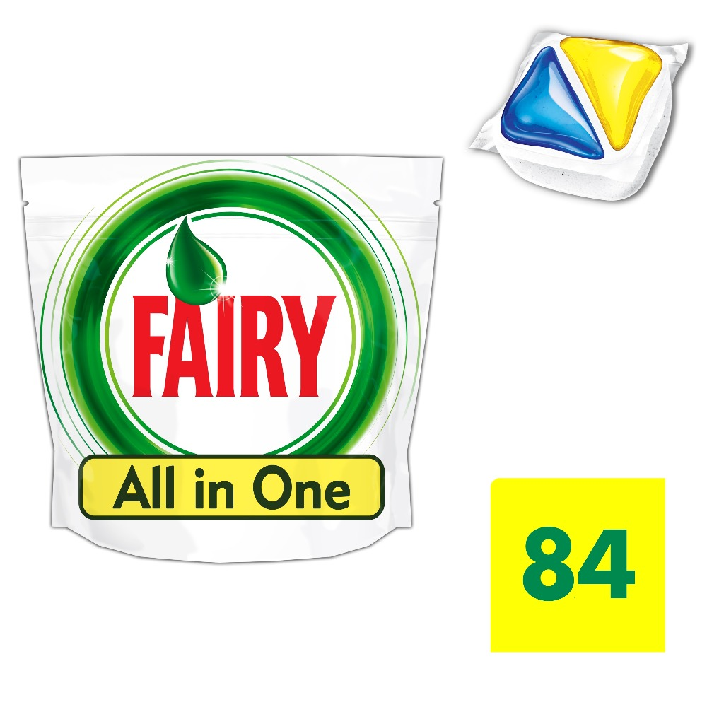Lemon Dishwasher Tablets Fairy All In One Lemon (Pack of 84) Tableware Washing Dishes Detergents for Dishwashers infrared 84 led illuminator board plates for 8mm lens cctv security camera 3 piece pack