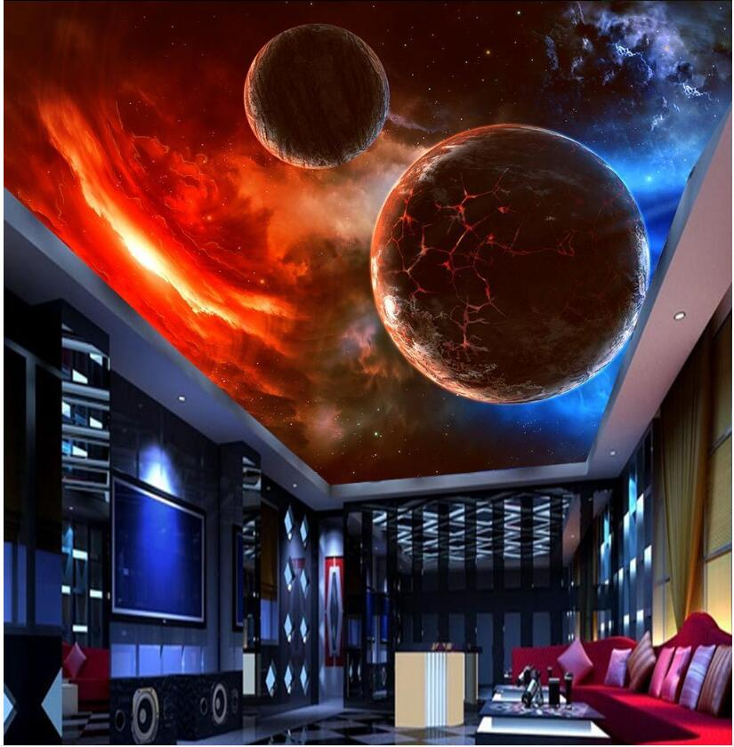 3d ceiling murals wallpaper custom photo Suspended meteorite space stars home decoration living room 3d wall murals wallpaper custom 3 d wallpaper for living room ceiling murals wallpaper blue sky 3d ceiling wallpaper luxury ceiling wallpaper