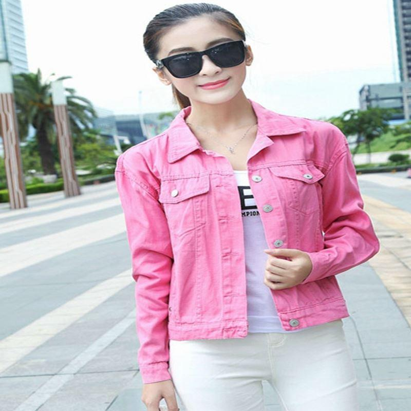 Online Get Cheap Womens Pink Denim Jacket -Aliexpress.com ...