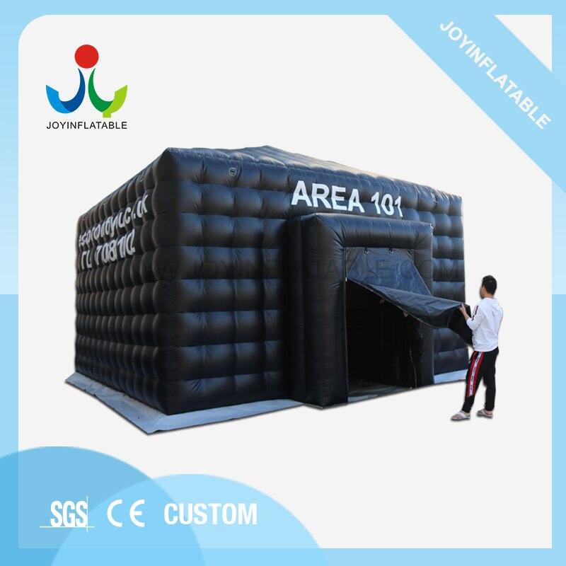 Надувная палатка черного цвета со светодиодной подсветкой для вечеринки