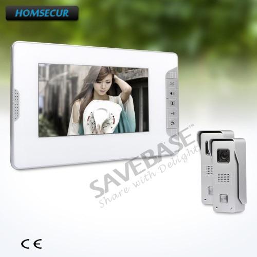 где купить HOMSECUR 7inch Wired Video Door Phone Intercom System with Intra-monitor Audio Intercom Ship from RU дешево