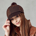 Free Shipping Kenmont Winter Autumn Outdoor Women Lady Beanies Warm Woolen Wool Patchwork Beret Hat Baseball Caps 2256