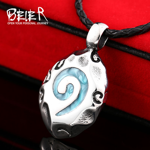 WoW World Of Warcraft Hearthstone Glass Round Pendant Charm Necklace Fine Jewelry Bronze Link Chain BP8-178