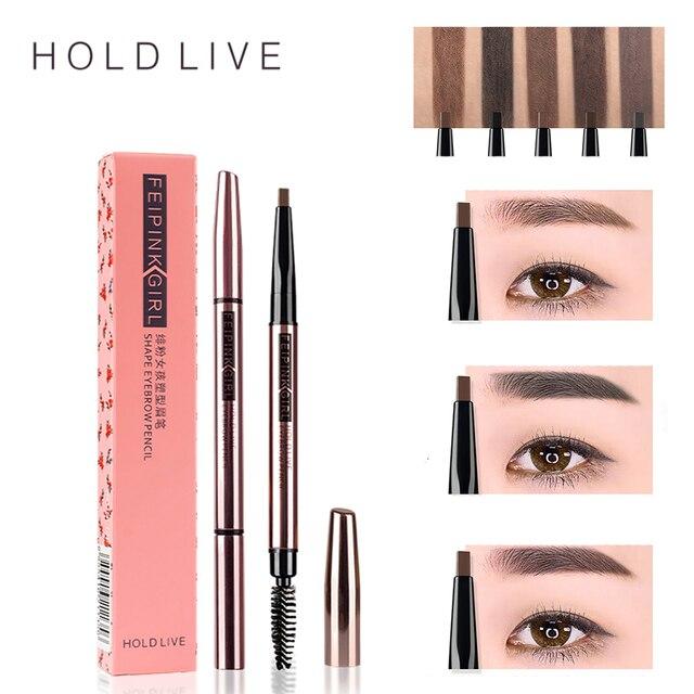 Hold Live Double Head Eyebrow Pencil Waterproof Long Lasting Black