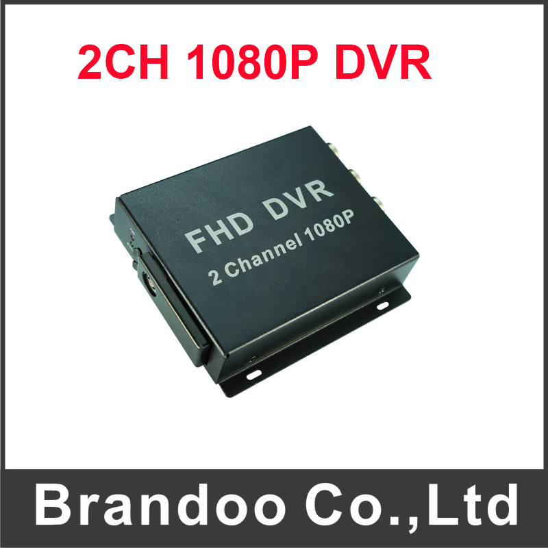 Mini 1080P Mobile DVR Recorder Support SD Card 128GB 2Ch DVR H.264 Video Compression Motion Detection