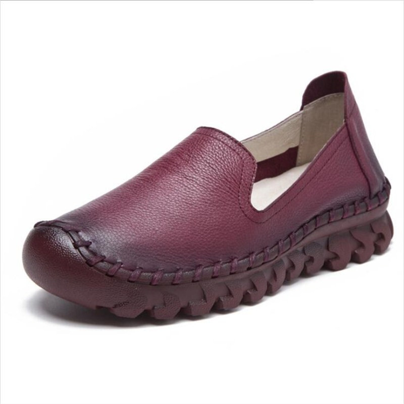 Flat women 39 s shoes soft and comfortable women 39 s shoes spring and autumn new leather fashion wild women 39 s shoes in Women 39 s Flats from Shoes