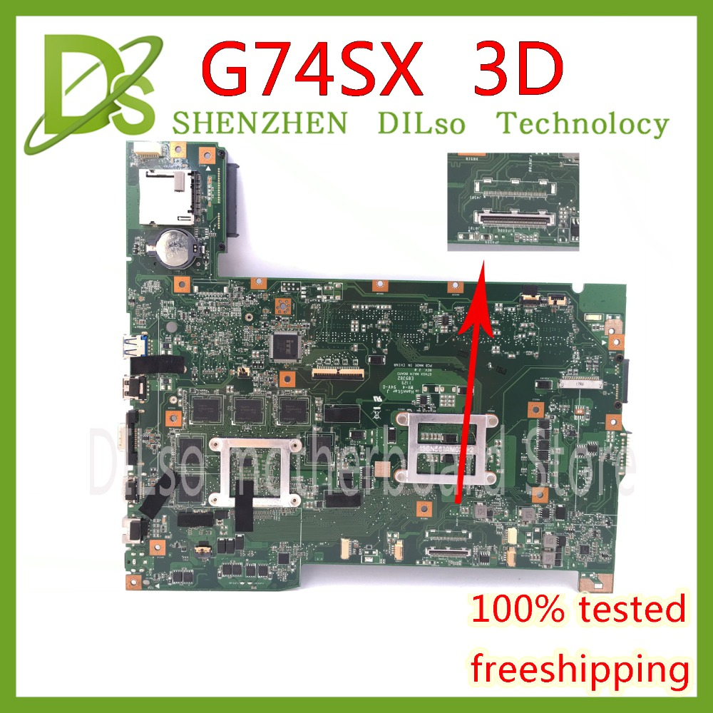 KEFU G74SX motherboard for ASUS G74SX GTX560M 3GB support 3D connector 12 Memory's laptop motherboard все цены