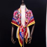 30% Silk 70% Cashmere Scarf Women Scarves Designer Luxury Brand Large Square Lady Shawl Wraps 140*140cm