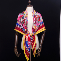 30% Silk 70% Cashmere Scarf Women Scarves Designer Luxury Brand Large Square Lady Shawl Wraps 140*140cm