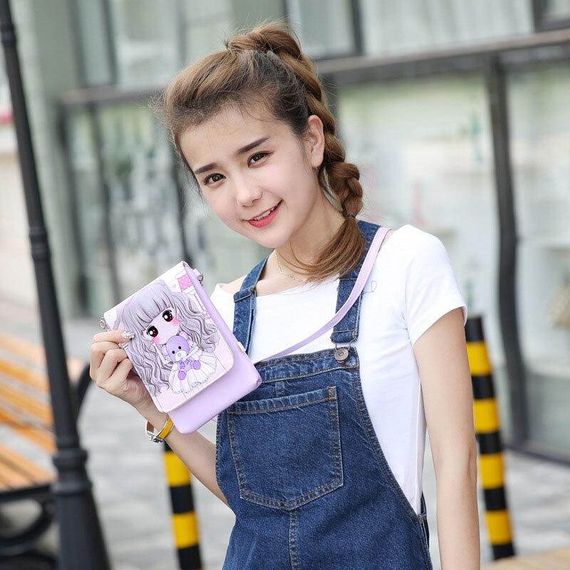 Summer Messenger Bag Lovely Cartoon Kids Mini Handbag Girls Purses Long Strap Single Shoulder Bags 88 WML99