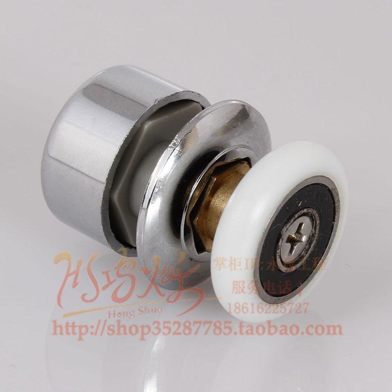 Old Style Bathroom Arc Shower Room Glass Sliding Door Roller Wheels Single Eccentric Wheel Light Bearing 26mm